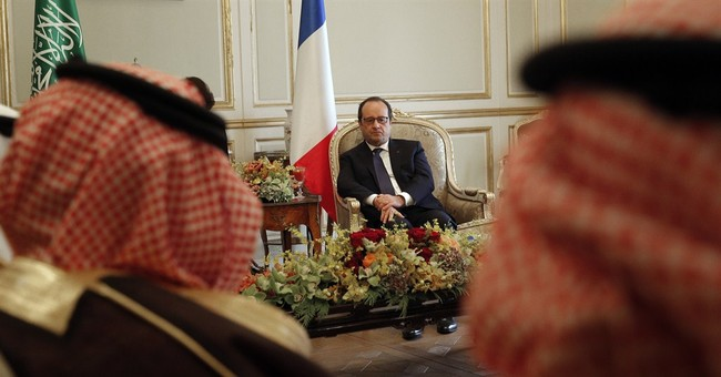 France vows to defend Arab allies, strengthen business ties