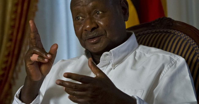 AP Interview: Uganda's president says he's the one bullied