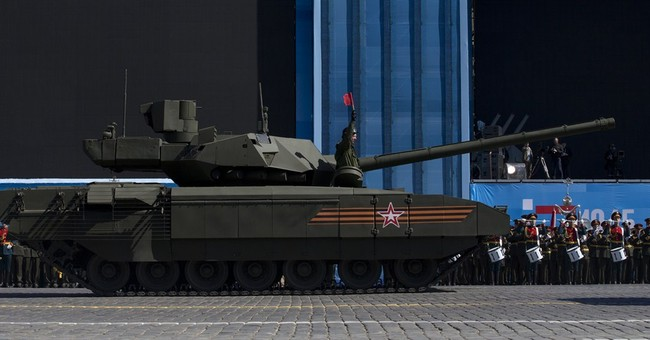 Russia's newest tank stops during parade rehearsal