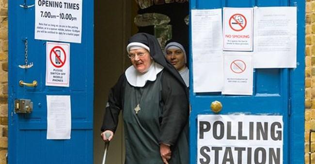 AP PHOTOS: Windmill, Laundromat among weird UK polling stops
