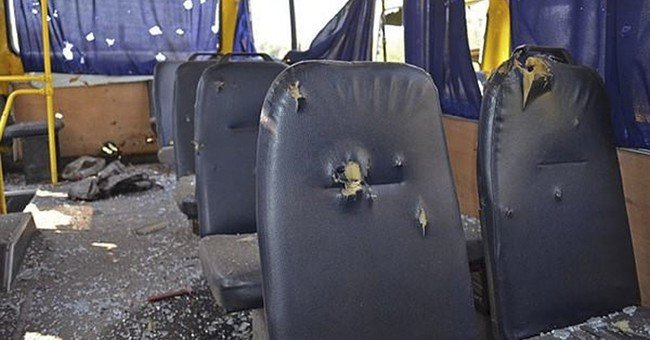 12 dead in bus attack that could doom Ukraine's shaky truce