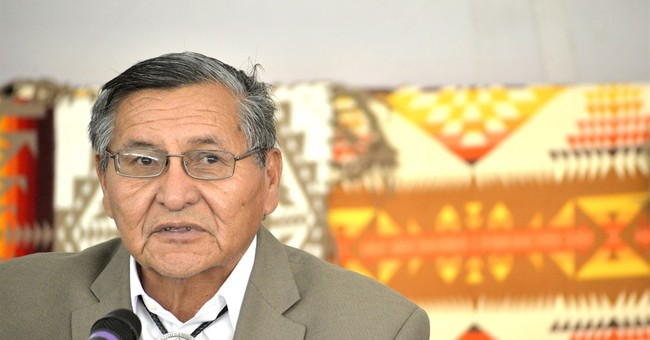 Navajo president sworn in despite losing re-election