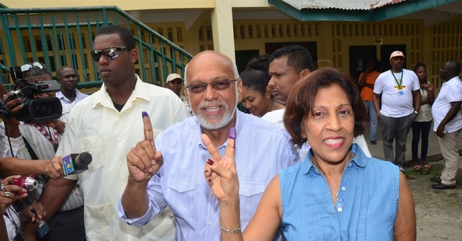Long poll lines in Guyana vote challenging racial politics