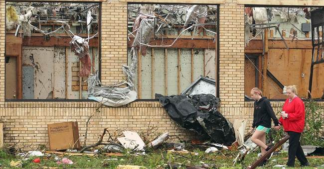 The Latest on severe weather: Dozens expected at shelter