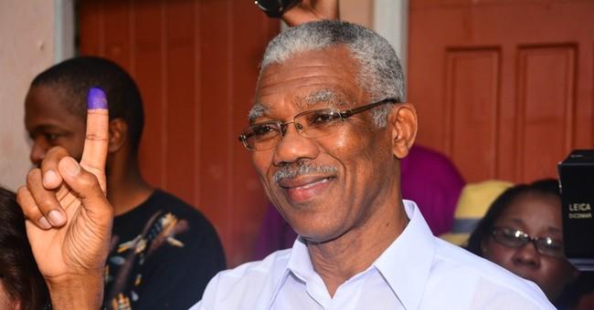 Guyana swears in new president who ended foes' 23-year rule