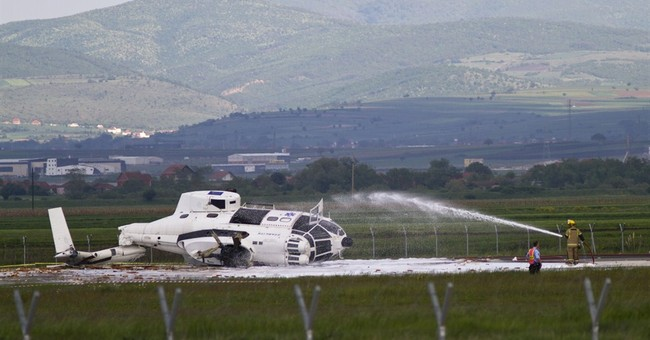 EU mission helicopter crashes in Kosovo, injuring 1