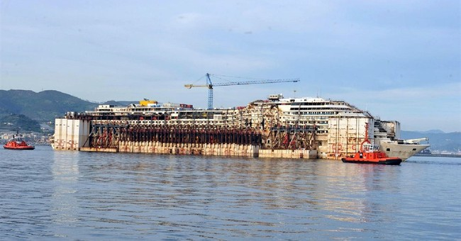Gutted Costa Concordia cruise ship now ready for scrapping