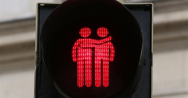 Vienna traffic signals go red and green, gay and straight