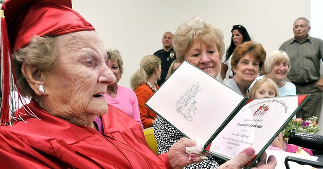 Indiana woman receives diploma 82 years after leaving school