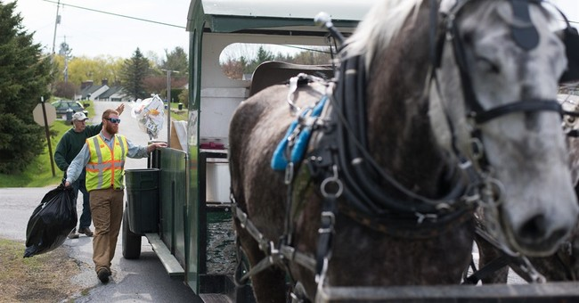 Horse-drawn trash service behooves 2 communities