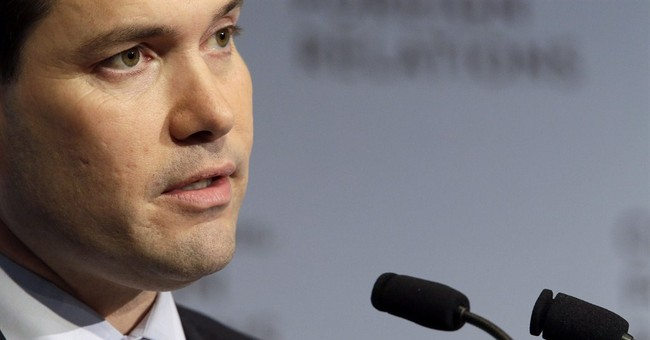 Rubio promoting a strong military as part of foreign policy