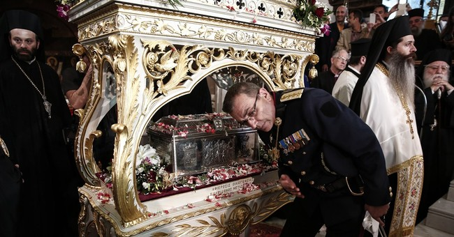 Greece: Religious relics displayed at hospital causes spat