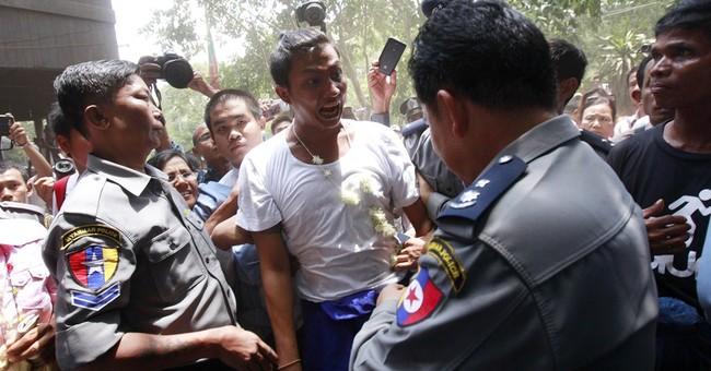 Myanmar court hands hard-labor sentences to 6 activists