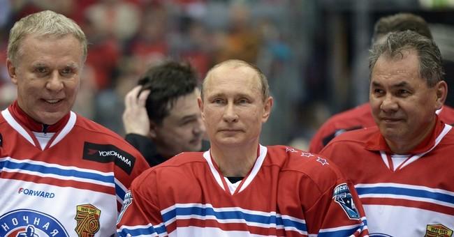 Russia's Putin plays with NHL veterans, scoring 8 goals