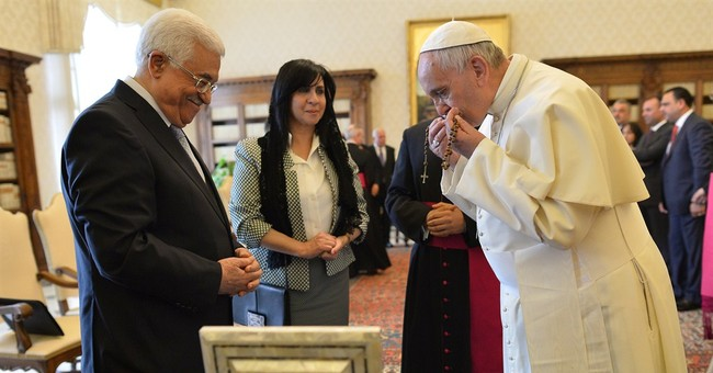 """Pope calls Palestinian leader """"angel of peace"""" during visit"""