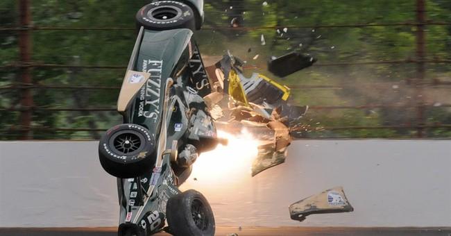 Qualifying delayed after Carpenter's crash