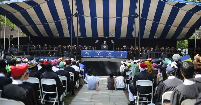 Biden urges Yale grads to question judgment, not motives