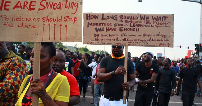 Ghana's movie stars lead protest march against power cuts