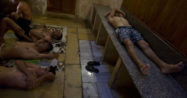 Historic bathhouse offers respite from Gaza's hardships