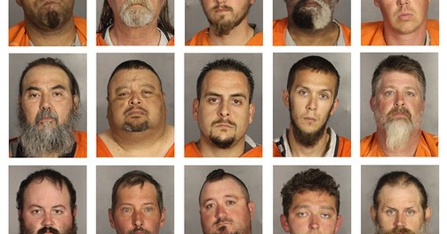 A look at suspects arrested in deadly motorcycle shootout