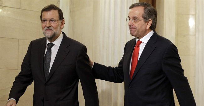 Spain's Rajoy backs Greek austerity before poll