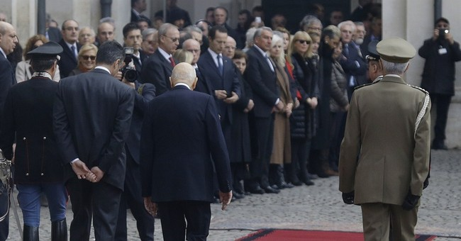 Italy's president quits as promised; scramble's on for next
