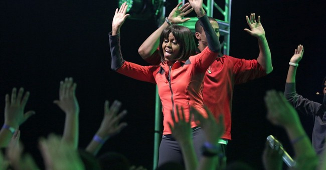 Michelle Obama offers glimpse of workout routine