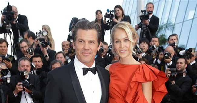 CANNES WATCH: Josh Brolin shows off fiancee on Cannes carpet