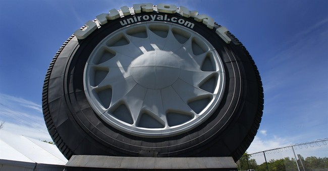 Uniroyal celebrates 50th anniversary of giant tire