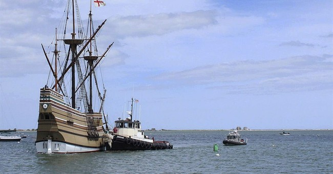 Mayflower II back in Plymouth, Massachusetts, for summer
