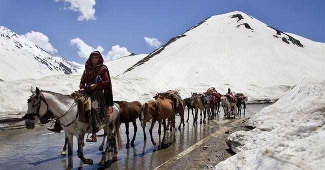 Image of Asia: Bakarwal herders make their seasonal journey