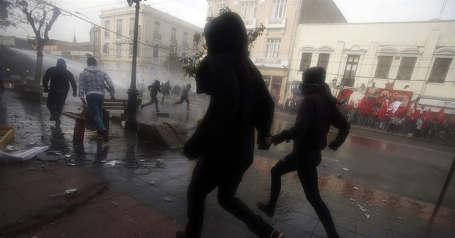 Police in Chile repel protesters with tear gas