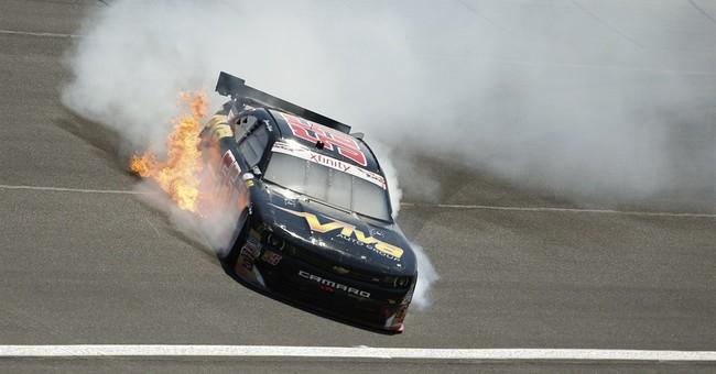 Xfinity driver Jamie Dick crashes Charlotte