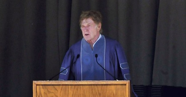 Redford to college graduates: World needs you; be fearless