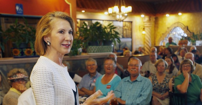 Is Fiorina shadowing Clinton's campaign?