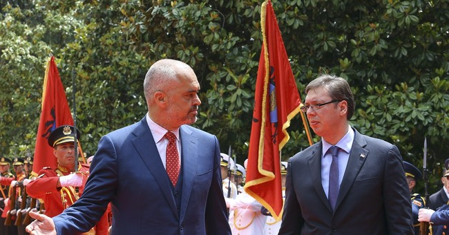 Serbian Premier Vucic in landmark visit to Albania