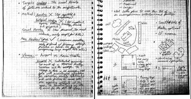 Theater gunman's writings alternate between ramblings, plans