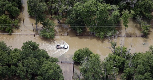 AP PHOTOS: Aerial views of Texas floodwaters