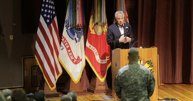 As he exits, Hagel recalls his Army roots and Vietnam combat