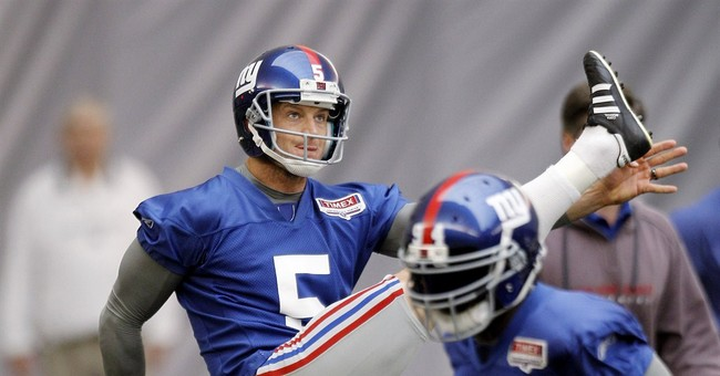 Giants punter unhurt in hydroplaning crash on NJ Turnpike