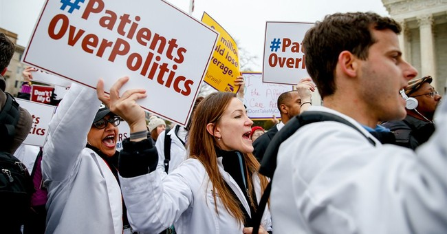 How do justices weigh loss of health insurance for millions?