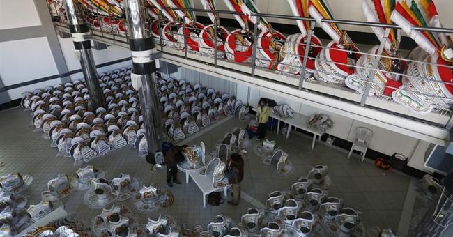 AP PHOTOS: Bolivia festival merges Catholic, native culture