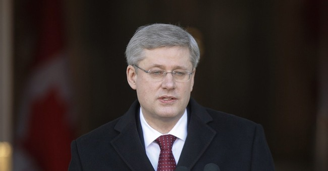 AP Interview: Canada's Harper says Russia can't rejoin G-7
