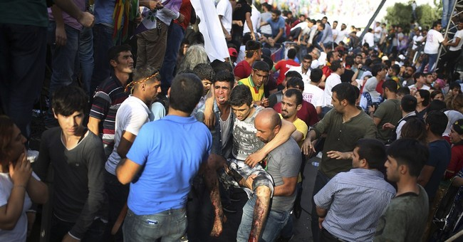 2 killed in explosion at Kurdish rally in Turkey