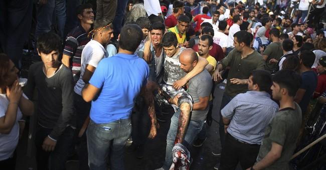2 killed in explosion at Kurdish rally in Turkey