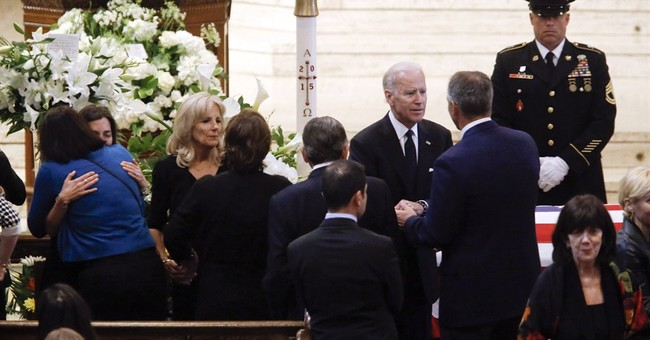 Mourners pay respects to US vice president's son