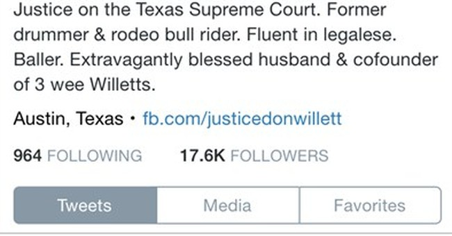 Trending: Texas Supreme Court judge named 'Tweeter Laureate'