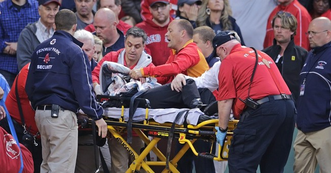 Police: Life-threatening injury to fan hit by bat at Fenway