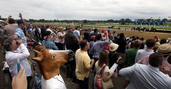 Excited, orderly crowd leaves Belmont after Pharoah win