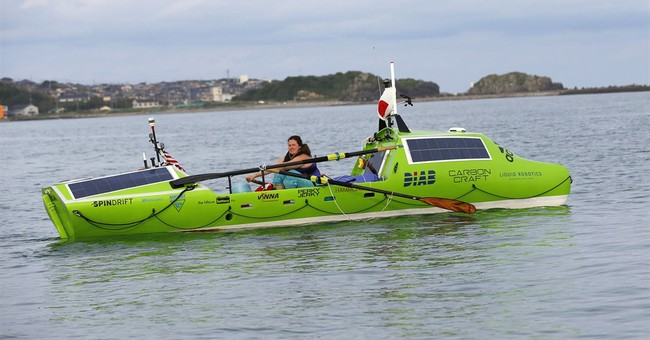 US woman sets out on 6,000-mile Pacific crossing by rowboat